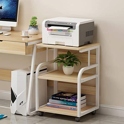 WXP LUYIASI- Estante para Impresora Estante De Almacenamiento Multicapa Estante De Almacenamiento De Caja Principal Lateral De Escritorio Móvil Simple Y Moderno (50x40x74.5cm)(Color:a)