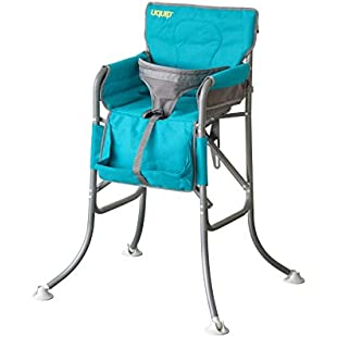 Uquip Candy Folding Travel High Chair, Safety Harness, Blue:Greatestmixtapes