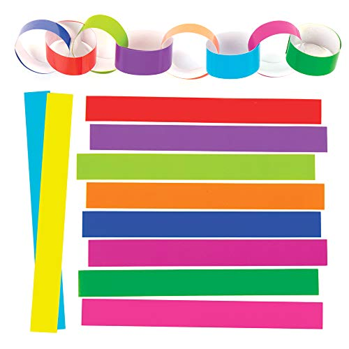 Baker Ross EX634 Coloured Paper Chains (Pack of 300), Assorted