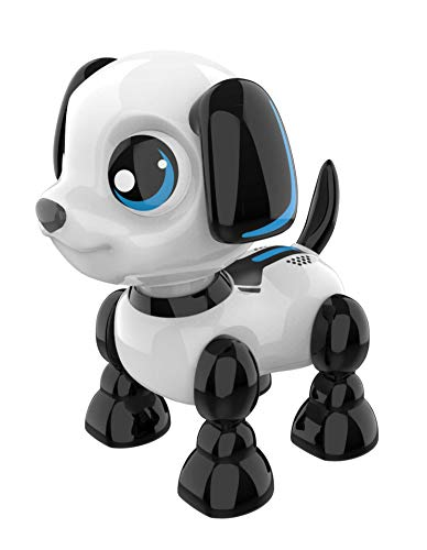 Ycoo - 88524 - Robo Headz Up - Welpenroboter - Ton- und Lichteffekten - Bewegt Sich vorwärts + rückwärts + seinen Kopf - Spielzeug Roboter für Kinder - 13 cm - Ab 3 Jahren, Hund