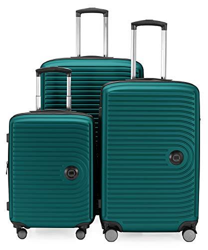 Hauptstadtkoffer,MITTE, Gepäck- Koffer-Set, 3er Set, Türkis