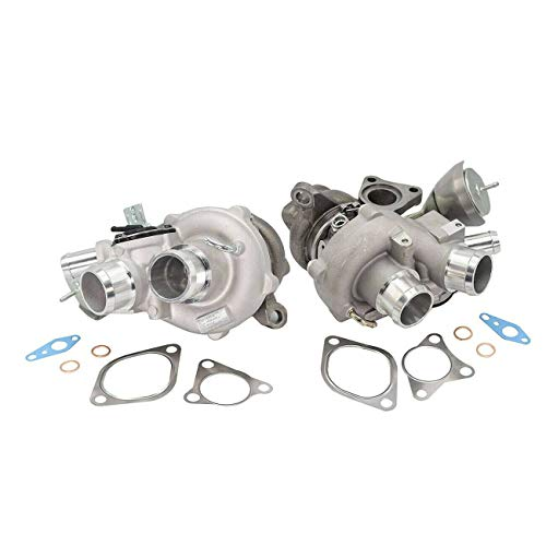 Bapmic CL3Z6K682C CL3Z6K682D Twin Turbo Turbocharger Compatible with Ford F150 EcoBoost 3.5L 2011-2012 Left+ Right