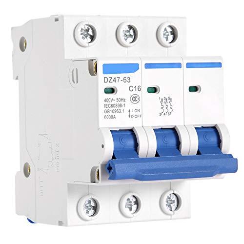Disyuntor en miniatura 400V Mini disyuntor de acción sensible Inoxidable Incombustible para caja combinadora Sistemas de CC Generación de energía solar(16A)