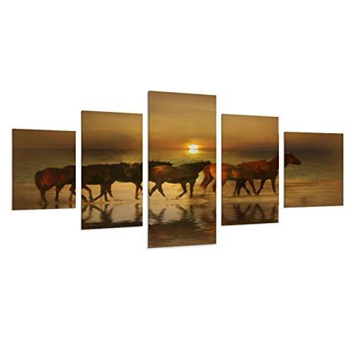 QWSDF Amber Herd Leinwand-Kunstposter und Wandkunstdruck, modernes Familienschlafzimmerdekor, Poster, 40 B x 22 H