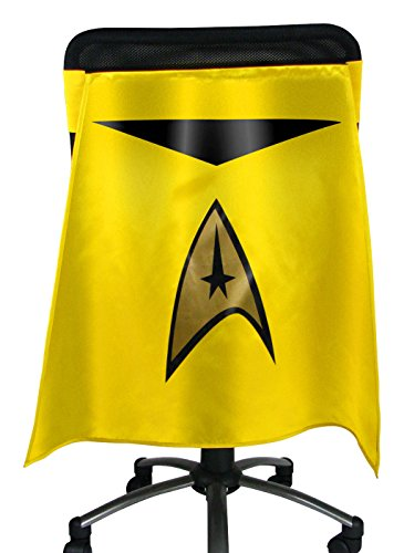 Entertainment Earth Star Trek The Original Series Gold Uniform Chair Capes