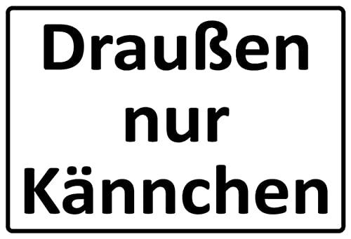 Cartel de metal de 20 x 30 cm, diseño con texto en alemán