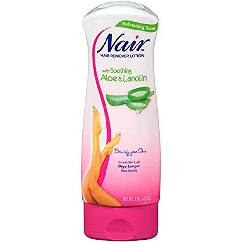 Nair Hair Aloe & Lanolin Hair Removal Lotion with Soothing Aloe & Lanolin, 9 Ounce