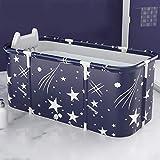 JXING Baño de Cuerpo Completo Familiar para Adultos, Barril de baño, bañera Plegable para Adultos, Barril de baño para niños, bañera Grande y Gruesa, 140X60x55cm