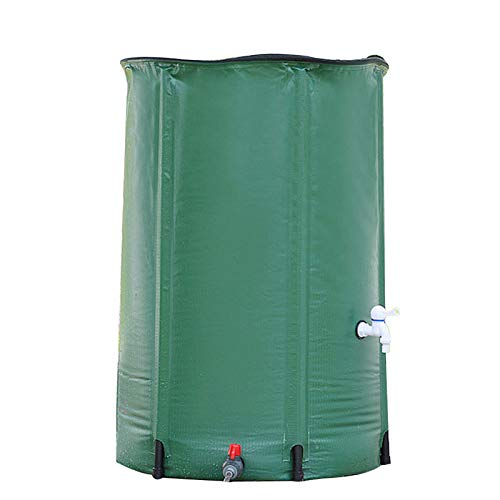 Garden Tools Réservoir collecteur Pliable d'eau de Pluie, Conteneur de Seau Portable avec Couvercle, Collecteur de Pluie résistant aux UV et à la Corrosion, Conteneur de Stockage d'eau