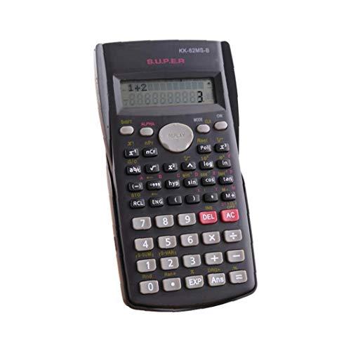 Rrunzfon Calculadora Científica Matemáticas Pantalla LCD Función Pruebas De Los Estudiantes De La Calculadora Portátil para El Hogar Oficina De La Escuela Negro