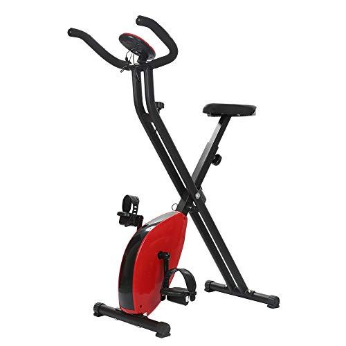 HLeoz F-Bike Bicicleta Plegable magnética, Pantalla LCD Resistencia Variable Pedales de Máximo Agarre Adultos Unisex Negro