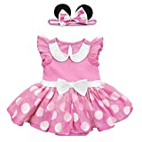 Disney Pink Minnie Mouse Costume Bodysuit for Baby, Size 12-18 Months