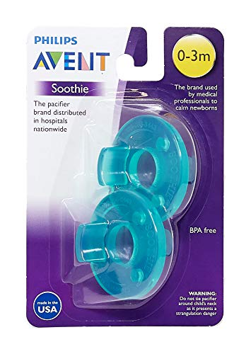 Philips Avent SCF190/01 Soothie 0-3 month Green/Green, 2 Count