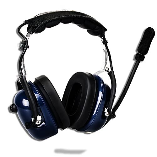 Retevis Auricular cancelación de Ruido Auricular Aviación Over-Ear Headphones Compatible con Retevis RT24 RT27 RT22 Baofeng BF-888S Kenwood TYT Walkie Talkie (1 Pieza)