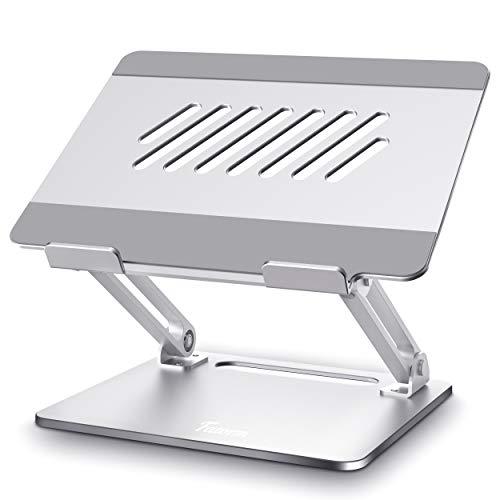 Fatorm Laptop Ständer, Höhenverstellbar Notebook Tablet Ständer mit Wärmeentlüftung, Ergonomischer Aluminium-Laptophalter, Unterstützt alle 10-16