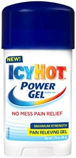 Icy Hot Power Gel 1.75-Ounce (Pack of 4) Temporarily Relieves Minor Pain Associated with Arthritis, Simple Backache, Muscle Strains, Sprains, Bruises, and Cramps