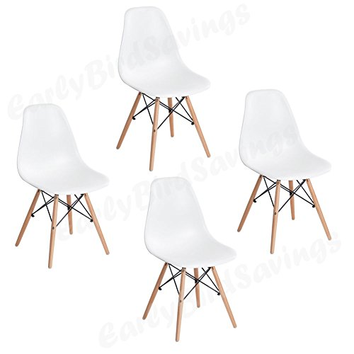 Earlybird Savings Lot De 4 Chaises,Blanche