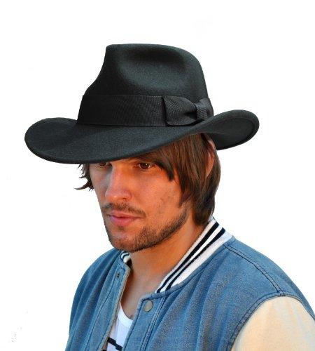 The Hat Company - Chapeau fedora - Homme noir noir Large