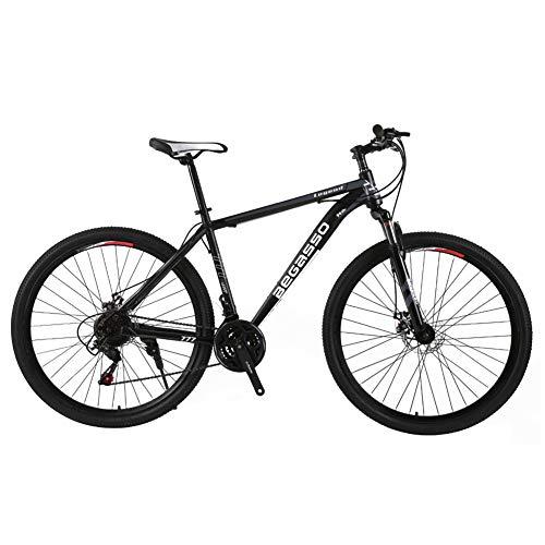 TYSYA 21-Gang Herren Mountainbike Doppelscheibenbremse 29 Zoll All-Terrain-Citybikes Nur Für Erwachsene Radfahren Im Freien Harter Schwanz Vorderradaufhängung,Schwarz