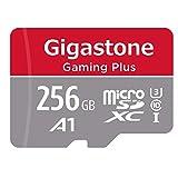 Gigastone 256GB Micro SD-Karte, Gaming Plus, Nintendo Switch kompatibel, 100MB/s Hochgeschwindigkeit, 4K Videoaufnahme, Micro SDXC UHS-I A1 Klasse 10
