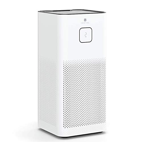 Medify MA-50 Air Purifier with H13 True HEPA Filter with UV   1100 sq ft Coverage   for Smoke, Smokers, Dust, Odors, Pet Dander   Quiet 99.9% Removal to 0.1 Microns   White, 1-Pack