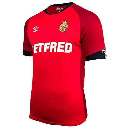 UMBRO RCD Mallorca Primera Equipación 2019-2020, Camiseta, Rojo, Talla S