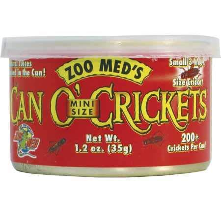 Zoo Med Can O\' Crickets Mini (200 Stück), 1 x 35g Futterinsekten, Grillen für Reptilien und Amphibien