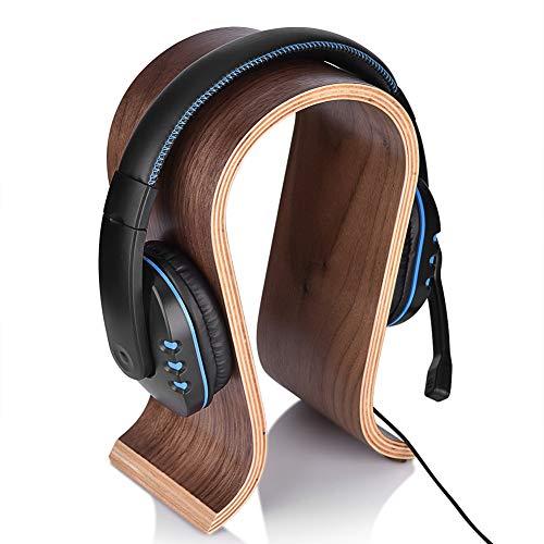 Soporte para auriculares Soporte para auriculares portátil en forma de U Soporte de madera para auriculares Soporte para soporte Soporte de madera para auriculares Soporte de madera para escritorio Es