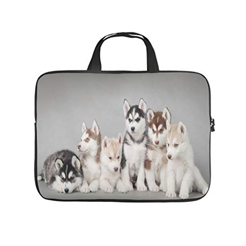 Dog Family Laptop Bag Shockproof Laptop Briefcase Pattern Notebook Bag for University Work Business