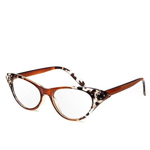 ❤ Chaunce de buena calidad Moditro Retro Gato Ojo Leer Gafas de plástico gafas de presbicia de cristal de lectura para hombres de la dioptría de mujeres + 1,0 ~ + 4,0