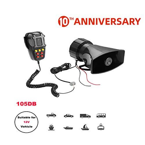 Tone Sound Car Siren Car Horn microfoon PA-luidsprekersysteem Emergency Versterker Hooter 12V Megafoon 3C