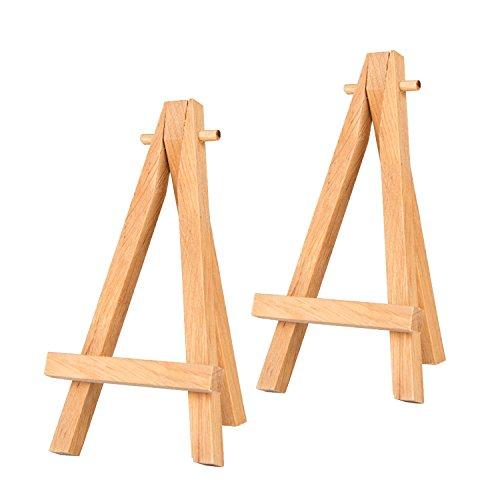 hang-it Mini-Staffelei - Set mit 2 Stück - kleine Tischstaffelei aus Holz - Deko Staffelei