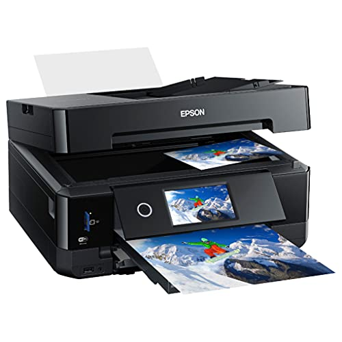 Epson 5-Color Expression Premium XP-7000 Series Small-in-One Wireless Inkjet Printer - Print Scan Copy - Auto 2-Sided Printing, 410-Sheet Capacity, Borderless Photo Print, Card Slot, Printable CD/DVD