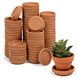 Okuna Outpost Round Terra Cotta Plant Pot Saucers, Drip Trays (2 Inches, 80 Pack)