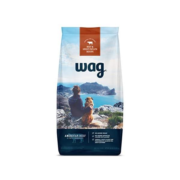 Amazon Brand – Wag Dry Dog Food, No Added Grains (Beef, Chicken, Salmon &...