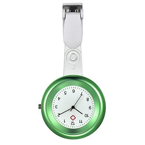 Avaner Reloj de enfermera con solapa y cierre de presión, reloj de bolsillo de acero inoxidable para enfermeras, médicos (3 colores)