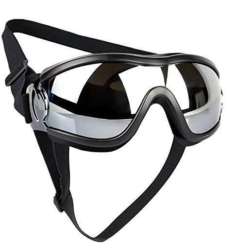 SQINAA Dog Goggles Large, Dog Sunglasses for Medium to Large Dogs, Dogs Glasses