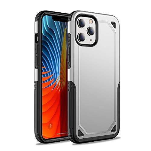 GUODONG Carcasa de telefono for iPhone 12 Mini Funda Protectora de Armadura Resistente a Prueba de Golpes Funda Trasera para Smartphone (Color : Silver)