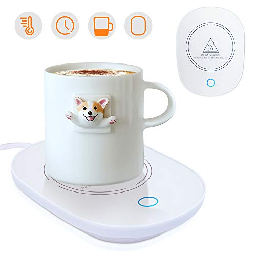YEAILIFE Coffee Cup Warmer for Desk with Auto Shut Off, Coffee Mug Warmer for Office Home Desk Use, Cup Warmer Plate for Coffee, Milk, Tea, Water