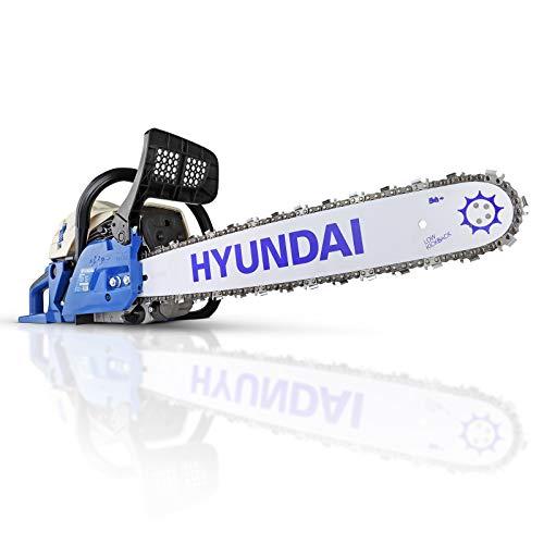 Hyundai 62cc Petrol Chainsaw, 3 Year Platinum Warranty, 20'' Cutting Bar, 2 Chains, Carry Bag, Chain File & Fuel Mixing Bottle, Chainsaw Petrol, Wood Saw