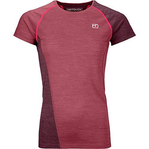 ORTOVOX Damen 120 Cool Tec Fast Upward Ts W T-Shirt, Dark Blood Blend, L