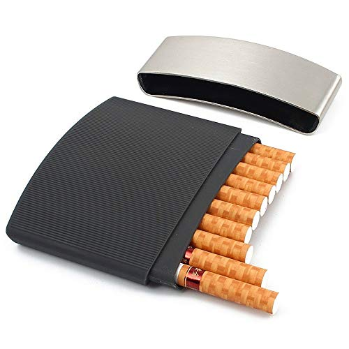 1 Ultra-thin Portable Metal Cigarette Case with 10 Cigarette Capacity for Men, Waterproof and Pressure-proof Cigarette Accessories