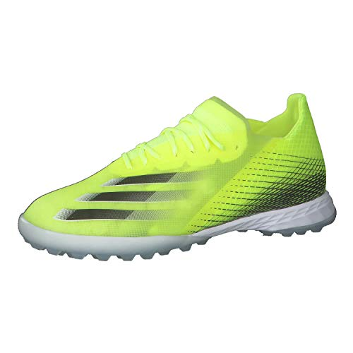 adidas X GHOSTED.1 TF, Zapatillas de fútbol Hombre, Amasol/NEGBÁS/AZUREA, 48 2/3 EU