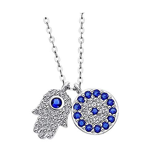 Lotus Collar de plata con circonitas LP1969-1/1, plata 925, mano de Fátima, D1JLP1969-1-1, joya para el cuello de Lotus Silver