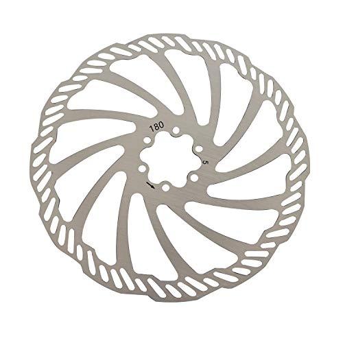 QYWSJ Rotores de Freno de Disco, Rotores de Disco de Freno de Bicicleta de Acero Inoxidable, 6 Pernos para la Mayoría Las Bicicletas Bicicleta Carretera Bicicleta Montaña BMX MTB(180 mm)