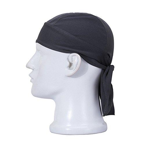 FREEMASTER cappello sportivo e bandana per ciclisti uomo e donna, colori nero rosso bianco, foulards, cappelli, Grau