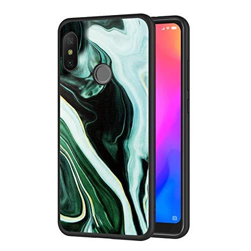 Eouine Capa para celular Xiaomi Mi A2 Lite, capa de telefone de silicone preta com padrão ultrafino, à prova de choque, capa traseira de gel macio, capa protetora para smartphone Xiaomi Mi A2 Lite (verde)