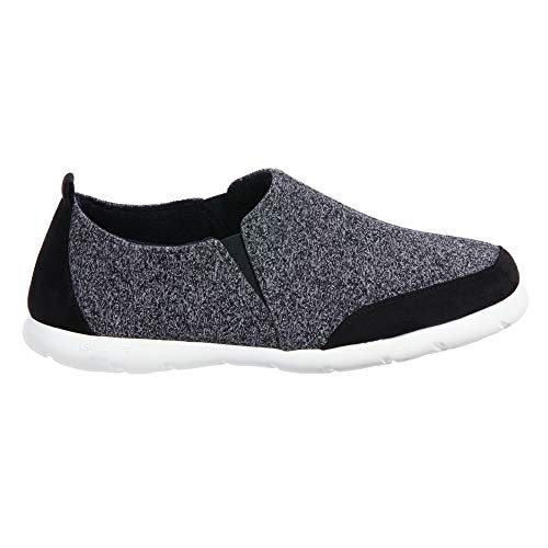 ISOTONER Zenz Men's Sport Knit Slip-On Walking Shoe Black, 11US, Black