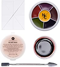 Narrative Cosmetics Starter Effects Kit - 6 Color Bruise Wheel, Scar Wax with Double Sided Spatula, Scab Blood Paste, and Foam Makeup Sponge Block - Perfect for Special FX and Theatrical Makeup