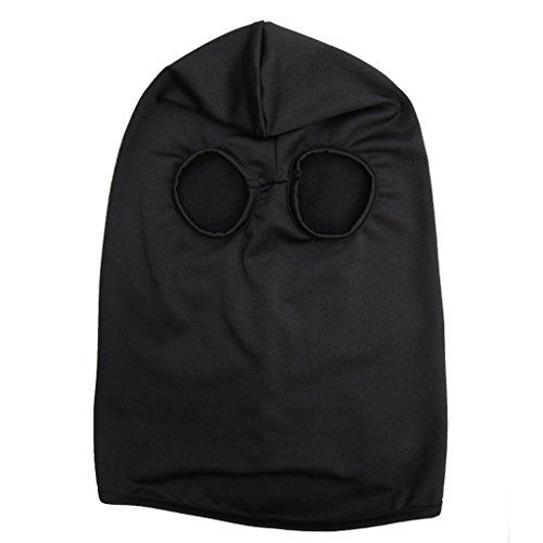 Generic Lycra Cagoule Masque Protection Complète du Visage Cou Oreilles pour Sport D'hiver Cyclisme CS - Noir, Taille unique